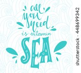 "vector hand drawn quote ""all... 
