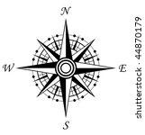 vector version. compass symbol... | Shutterstock .eps vector #44870179
