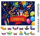 welcome to carnival concept...   Shutterstock .eps vector #448706356