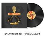 music vinyl disc composition...   Shutterstock .eps vector #448706695