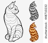 coloring book pages for kids... | Shutterstock .eps vector #448710232
