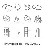 urban landscape design elements ... | Shutterstock .eps vector #448720672