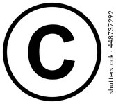 copyright symbol   isolated... | Shutterstock .eps vector #448737292