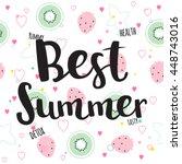 best summer card. vector... | Shutterstock .eps vector #448743016
