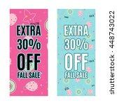 sale promotion design template... | Shutterstock .eps vector #448743022