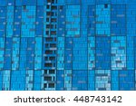 skyscraper windows reflecting... | Shutterstock . vector #448743142