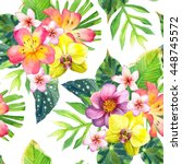 seamless pattern with... | Shutterstock . vector #448745572
