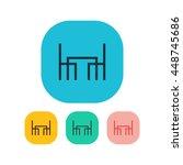 vector illustration of dining... | Shutterstock .eps vector #448745686