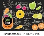 juice menu placemat drink... | Shutterstock .eps vector #448748446