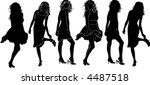 a lot of walking long hair... | Shutterstock .eps vector #4487518