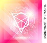 vector abstract geometric...   Shutterstock .eps vector #448756846