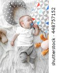 cute sleeping baby boy | Shutterstock . vector #448757152