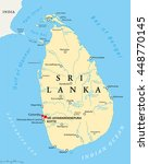 sri lanka political map with... | Shutterstock .eps vector #448770145