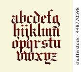 blackletter gothic calligraphy... | Shutterstock .eps vector #448770598