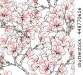 cherry blossom vector... | Shutterstock .eps vector #448770616
