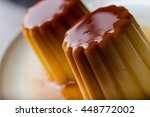 flan. traditional french and... | Shutterstock . vector #448772002