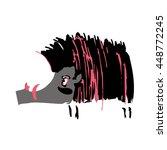wild pig | Shutterstock .eps vector #448772245