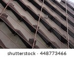 set of several linear stairways ... | Shutterstock . vector #448773466