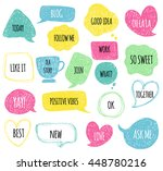 hand drawn speech thought... | Shutterstock .eps vector #448780216