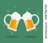 toasting glasses of beer.... | Shutterstock .eps vector #448786765