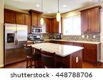 kitchen mahogany storage... | Shutterstock . vector #448788706