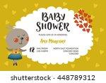 baby shower girl and boy...   Shutterstock .eps vector #448789312