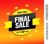 final sale banner. special... | Shutterstock .eps vector #448800808