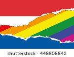 a flag illustration of the...   Shutterstock .eps vector #448808842