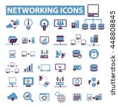 networking icons | Shutterstock .eps vector #448808845