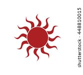 sun icon. vector illustration | Shutterstock .eps vector #448810015