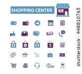 shopping center icons | Shutterstock .eps vector #448810765