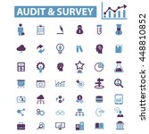 audit survey icons | Shutterstock .eps vector #448810852