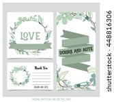 wedding invitation card with... | Shutterstock .eps vector #448816306