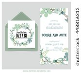 wedding invitation card with... | Shutterstock .eps vector #448816312