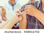 Shot of human hands making an...
