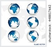 set of modern globe  vector... | Shutterstock .eps vector #448817662