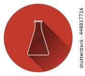 icon of chemistry cone flask....