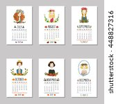 Calendar For 2017 With Cute...