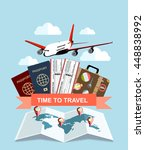 travel and tourism concept. air ... | Shutterstock .eps vector #448838992