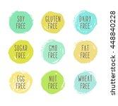 soy  gluten  dairy  sugar  gmo  ...   Shutterstock .eps vector #448840228