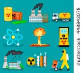 set of radiation waste icons in ... | Shutterstock .eps vector #448843078