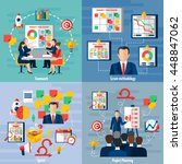 scrum agile iterative flexible... | Shutterstock .eps vector #448847062