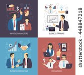 business management skills... | Shutterstock .eps vector #448847218