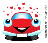 car in love | Shutterstock .eps vector #44884897