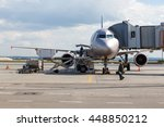 Commercial Airplane Parked At...