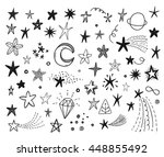 hand drawn funny doodle stars... | Shutterstock .eps vector #448855492