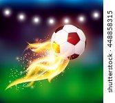 vector soccer ball with fire... | Shutterstock .eps vector #448858315