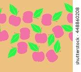 seamless horizontal pattern of... | Shutterstock .eps vector #448860208