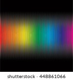 rainbow equalizer on black... | Shutterstock .eps vector #448861066