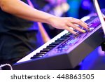 hand of musician playing... | Shutterstock . vector #448863505